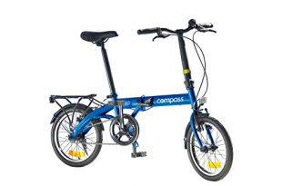 41Yu+DG+buL 310x205 - Compass Faltrad 16 Zoll Stahl blau, Klapprad, Klappfahrrad, leicht und robust Farbe blau