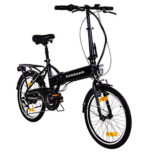 zuendapp faltrad e bike 20 zoll z101 klapprad pedelec stvzo elektrofaltrad 6 gang schwarz - Zündapp Faltrad E-Bike 20 Zoll Z101 Klapprad Pedelec StVZO Elektrofaltrad 6 Gang (schwarz)