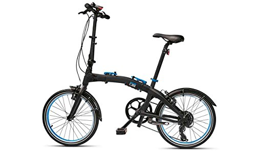 original bmw folding bike fahrrad klapprad faltrad schwarz blau groesse m - Original BMW Folding Bike Fahrrad Klapprad Faltrad schwarz/blau Größe M