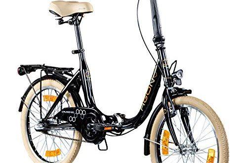"AGON Klappfahrrad 20 Zoll Faltrad Klapprad Fahrrad Cruiser 20"" StVZO Beleuchtung (schwarz)"
