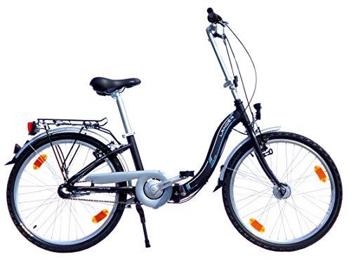 24 Zoll Lander Faltrad 3 Gang Alurahmen Nabendynamo StVZO Ausstattung schwarz - 24 Zoll Lander Faltrad 3 Gang Alurahmen Nabendynamo StVZO-Ausstattung schwarz matt