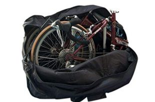 41A7erWhwL 310x205 - StillCool Fahrradtransporttasche 14 to 20-inch Faltrad Tasche Schutzhülle Transporttasche Fahrrad Rennrad Transporttasche (Schwarz)