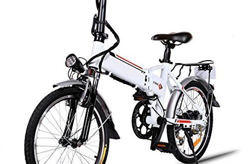 Elektrofahrraeder 36V 8AH Lithium Batterie Faltrad MTB Mountainbike E Bike 7 500x330 - Elektrofahrräder 36V 8AH Lithium Batterie Faltrad MTB Mountainbike E-Bike 7 Speed Fahrrad Intelligence Elektrofahrrad (Weiß, 20 Zoll)